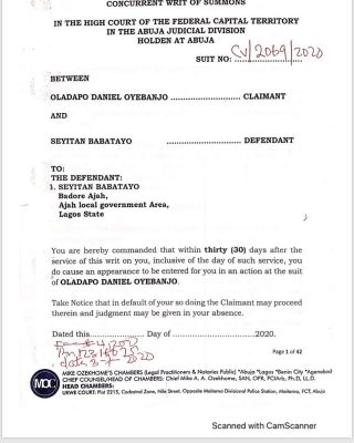Dbanj's Lawyer, Mike Ozekhome Sues Seyitan For N1.5B
