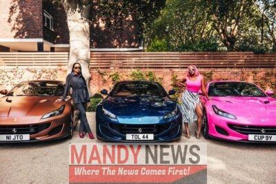 Femi Otedola Buys 2020 Ferrari Portofino For His Three Daughters