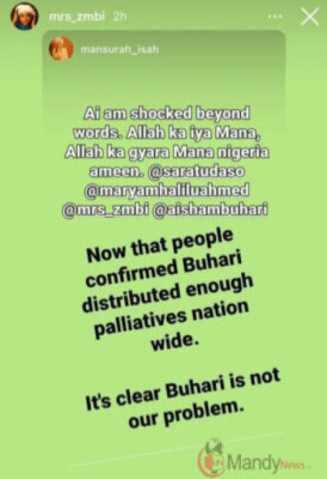 'My Father Is Not Nigeria's Problem' – Zahra Buhari