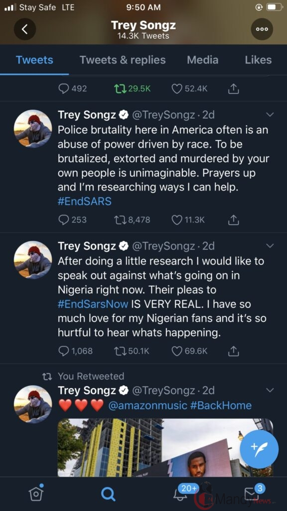 """The People Saying You Full Of Shit"" Trey Songz Blasts President Buhari"