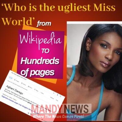 ugliest Miss World Agbani Darego