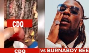 Rapper CDQ Stabbed Multiple Times By Burna boy Squad (Video)