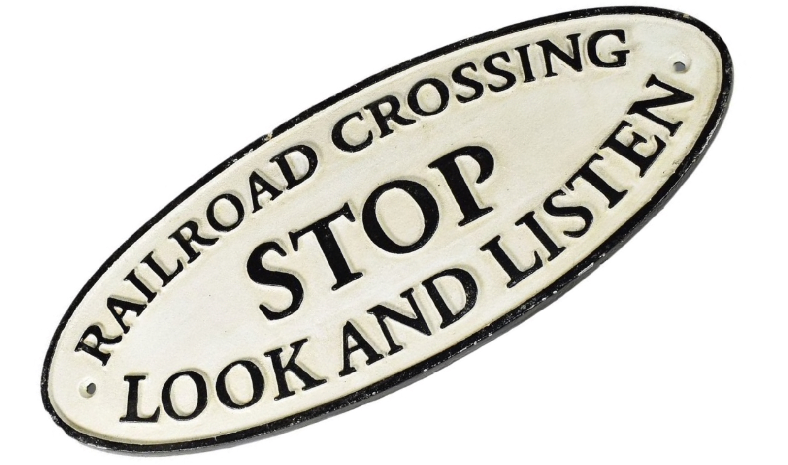 Rail Road Crossing Stop Look And Listen
