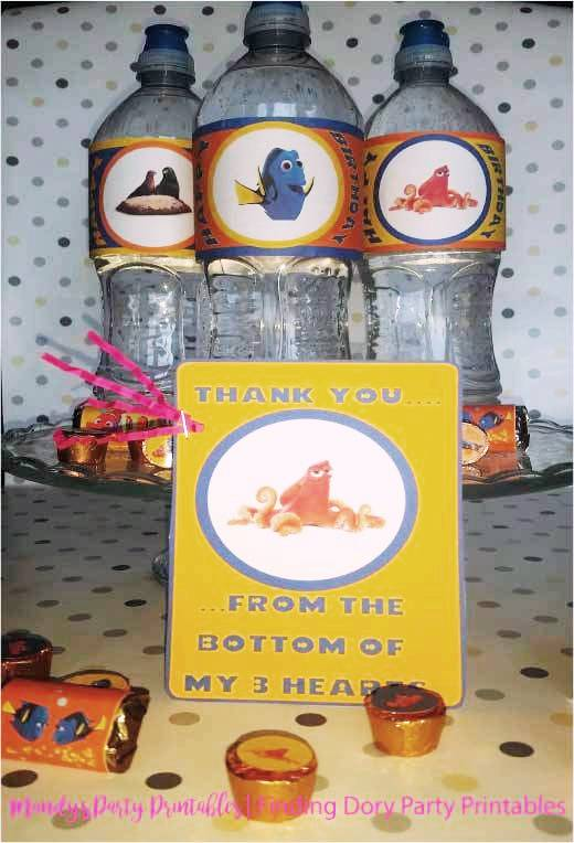 Finding-Dory-Party-Printables-Thank-You-Note via Mandy's Party Printables