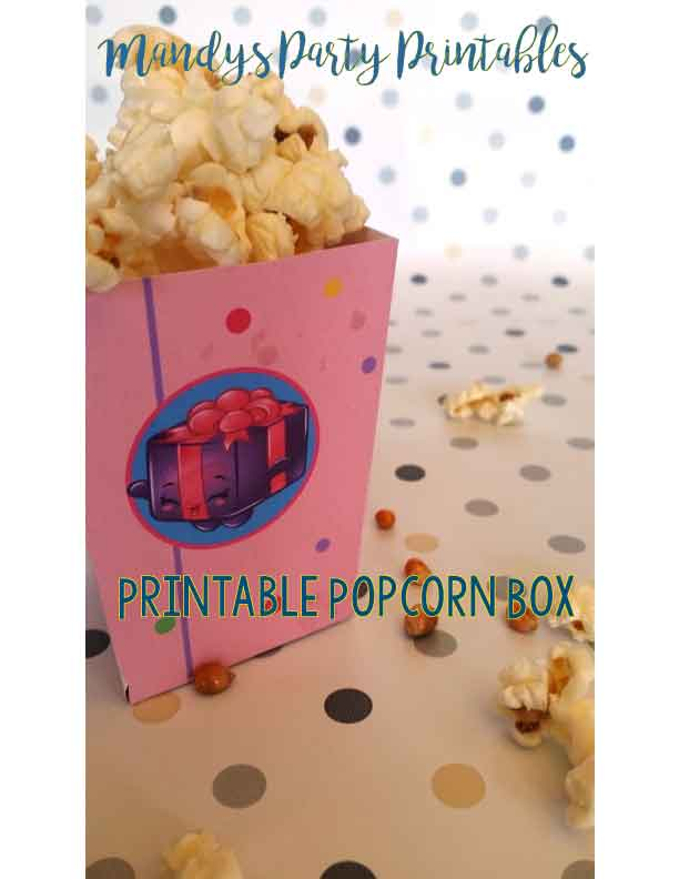 picture relating to Printable Popcorn Box identify Printable popcorn box Archives