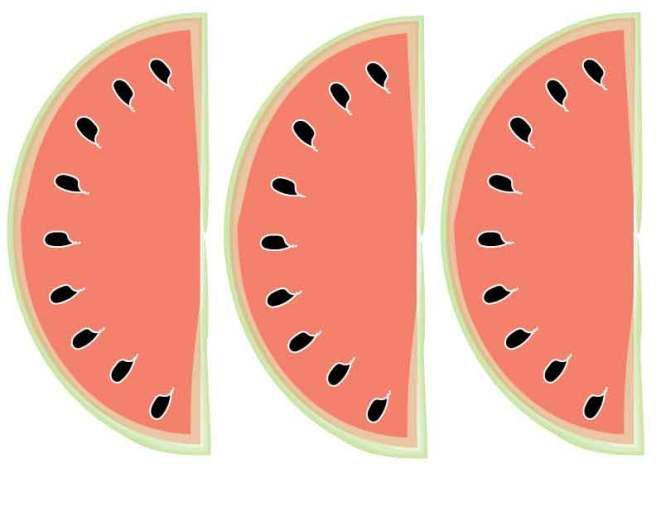 Watermelon-Banner Plain from Mandy's Party Printables | mandyspartyprintables.com