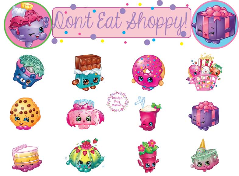 picture regarding Shopkins Birthday Card Printable named Cost-free Shopkins Printables Archives