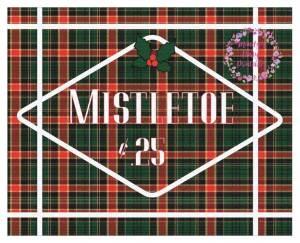 Free Christmas Printable Mistletoe Sign via Mandy's Party Printables