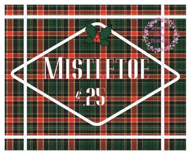 Free Christmas Printable Mistletoe Sign via Mandy's Party Printables