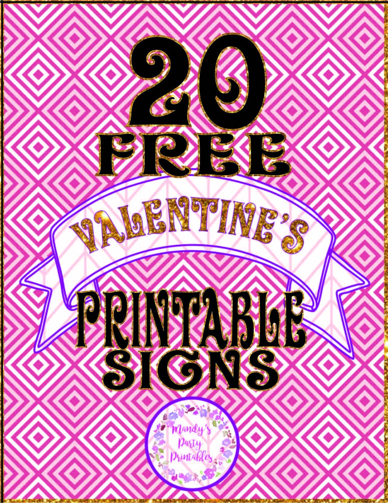 20 Free 12 Granny Square Crochet Patterns: 20 Free Printable Valentine Signs