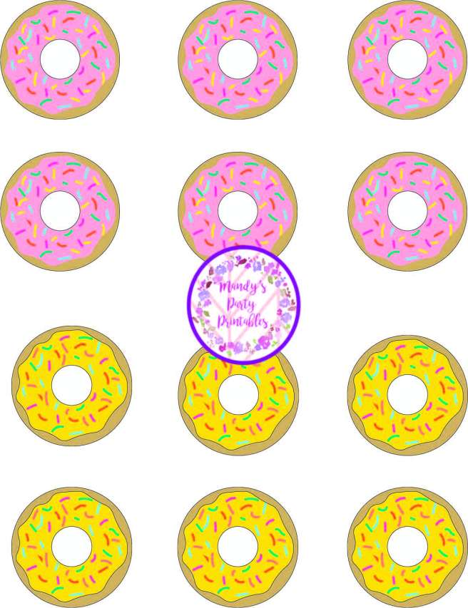 Free Printable Donut Party Game {Tic Tac Toe!} via Mandy's Party Printables