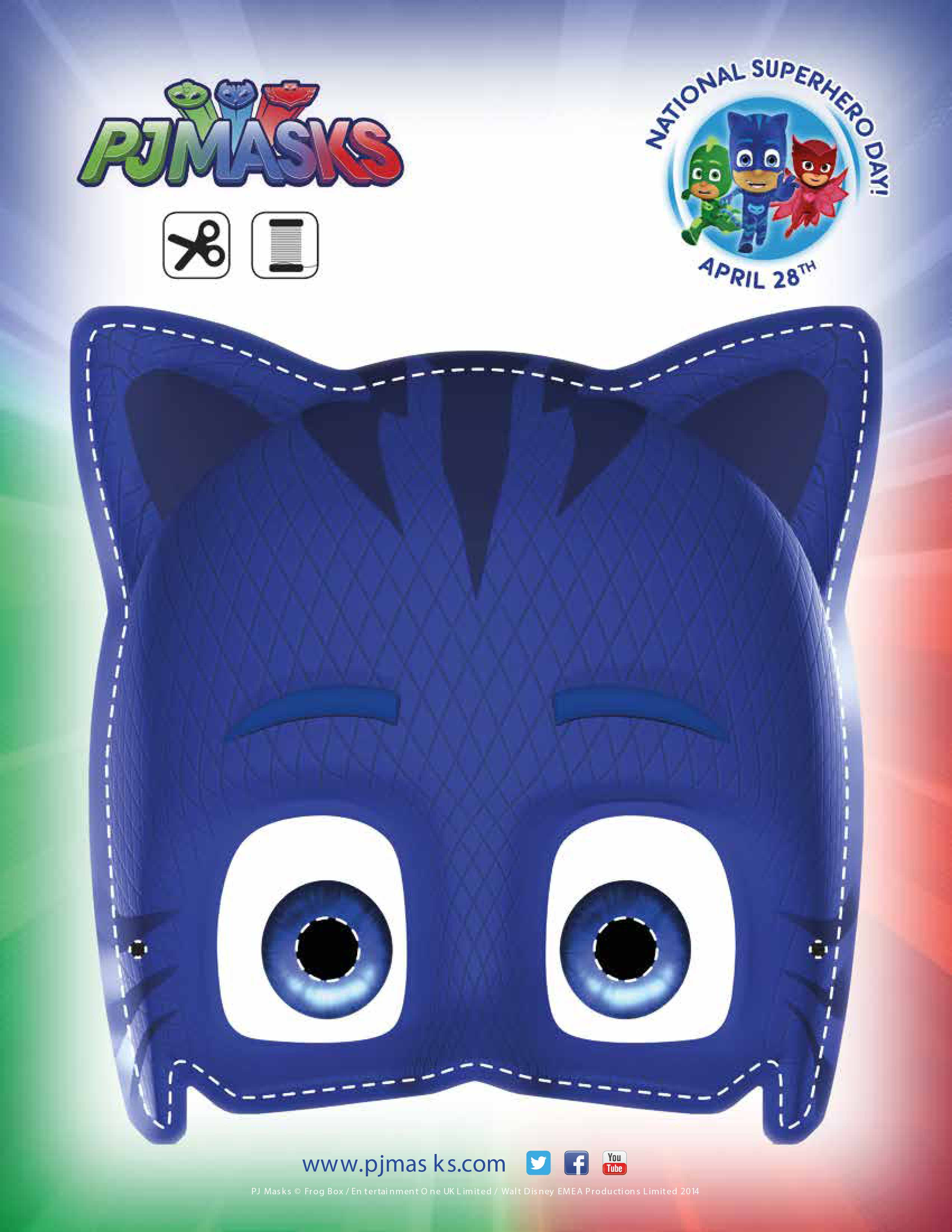 Adaptable image pertaining to pj masks mask printable