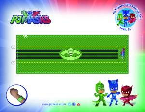 PJ Masks Party Printables Gekko Amulet for FREE via Mandy's Party Printables