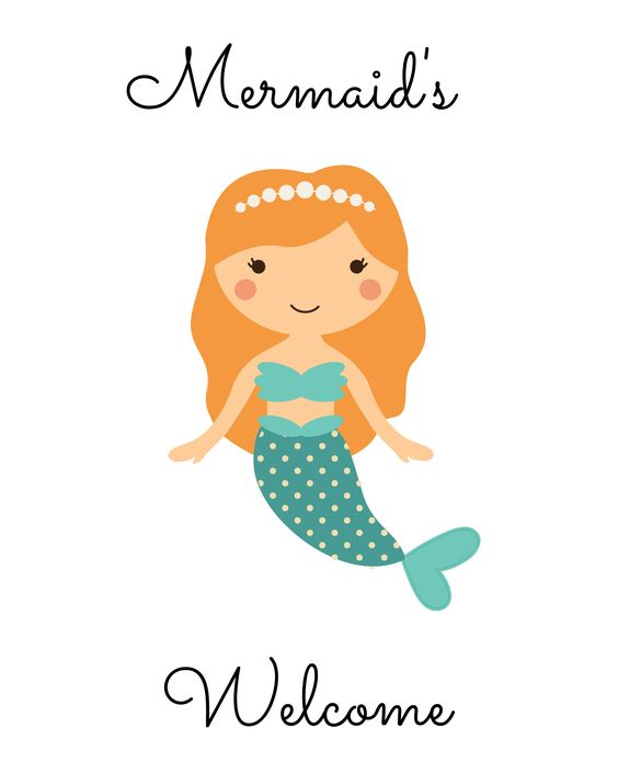 photo relating to Free Printable Mermaid Template known as No cost Mermaid Celebration Printables