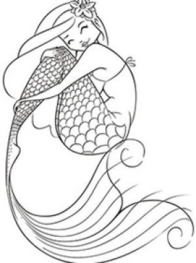 Buzzle Has These Mermaid Coloring Pages For Your Guests
