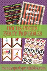 Hocus Pocus Party Printables via Mandy's Party Printables