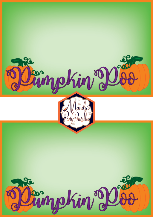 Pumpkin Poo Halloween Treatbag Toppers via Mandy's Party Printables