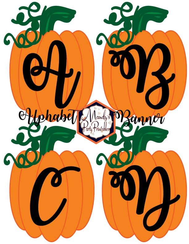 image relating to Halloween Banner Printable known as Free of charge Printable Pumpkin Banner