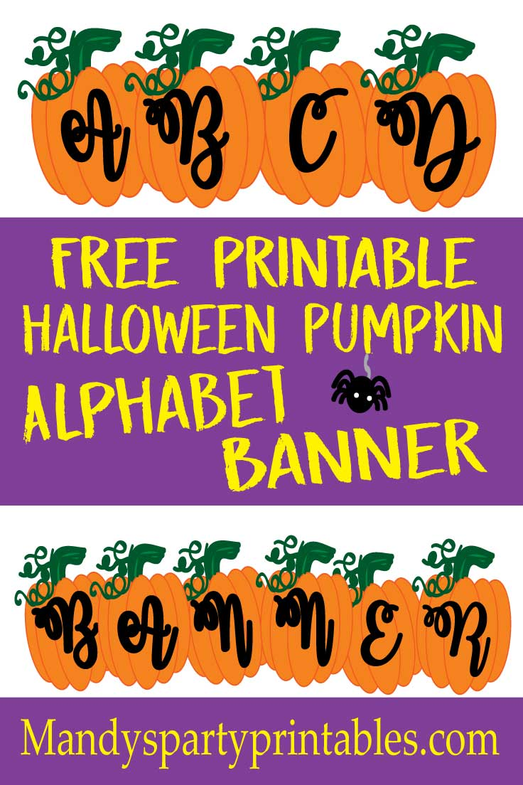 image about Printable Halloween Banners referred to as Free of charge Printable Pumpkin Banner