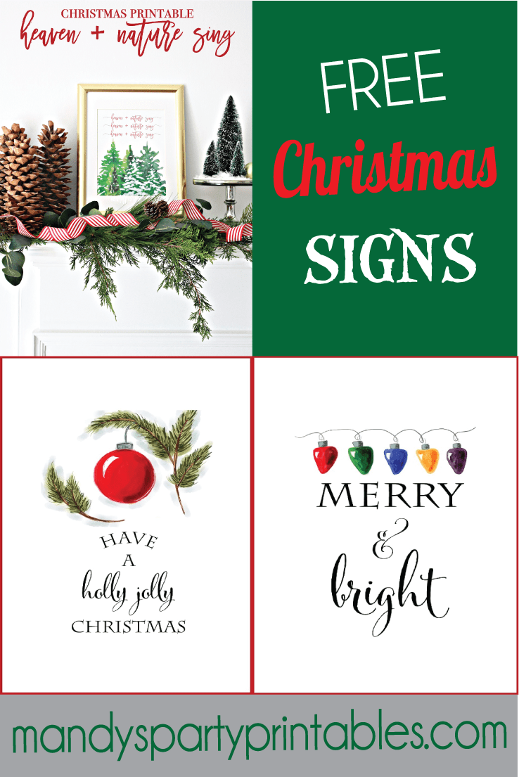 Obsessed image throughout free printable christmas signs
