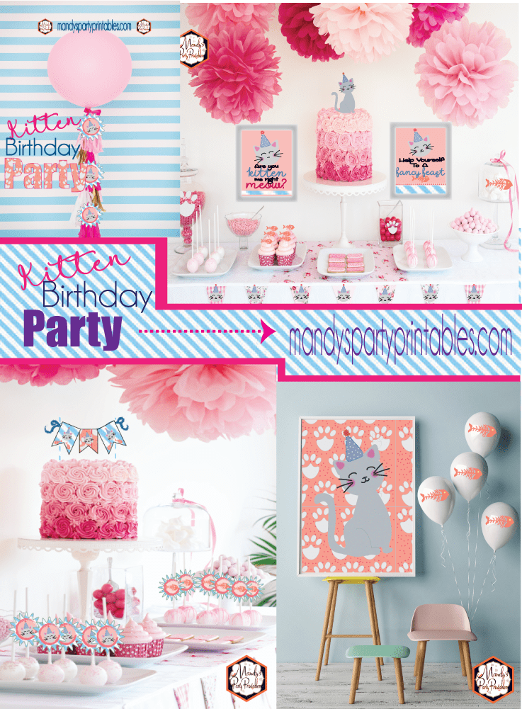 Kitty Cat Birthday Party With Printables