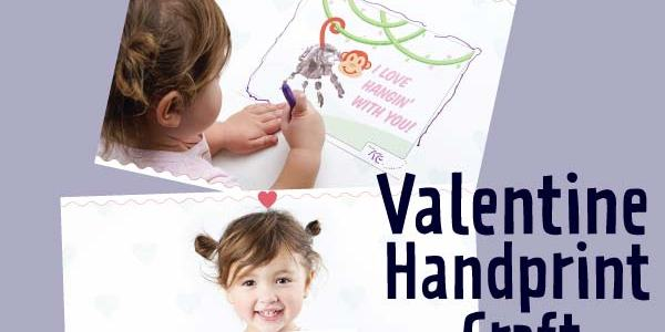 Free Printable Valentine Handprint Craft via Mandy's Party Printables
