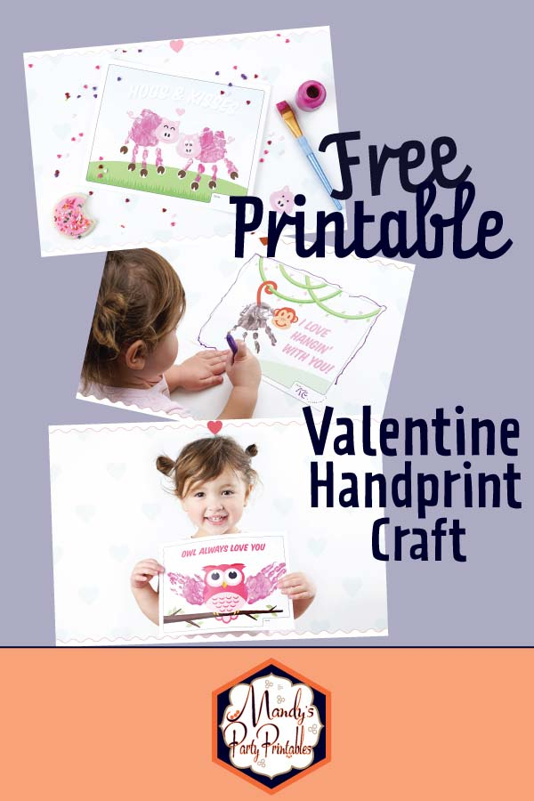 Free Printable Valentine Handprint Craft via Mandy's Party Printables B