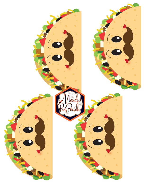Man Tacos from a Taco Bout Love Valentine Taco Party | Mandy's Party Printables #valentineparty #tacoparty #tacoboutlove #ilovetacos #MPP #fiesta