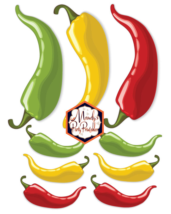 Pepper printables from a Taco Bout Love Valentine Taco Party | Mandy's Party Printables #valentineparty #tacoparty #tacoboutlove #ilovetacos #MPP #fiesta