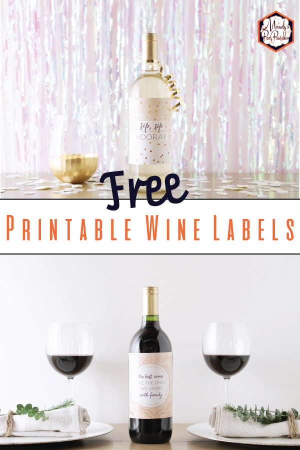 6 Printable Wine Bottle Labels Mandy S Party Printables