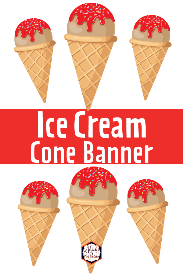 photograph relating to Printable Ice Cream Cone identify Printable Ice Product Cone Banner