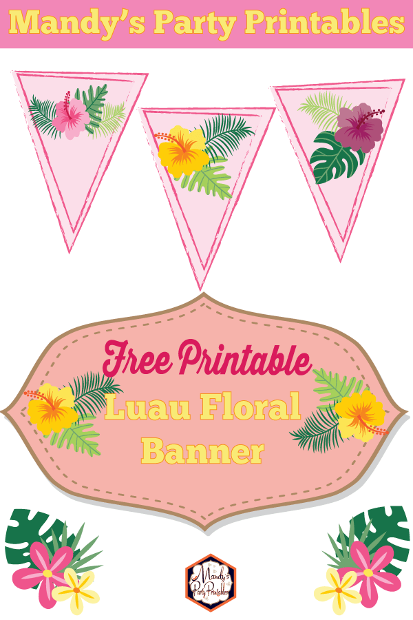 photograph about Floral Printable called Totally free Luau Floral Social gathering Printables