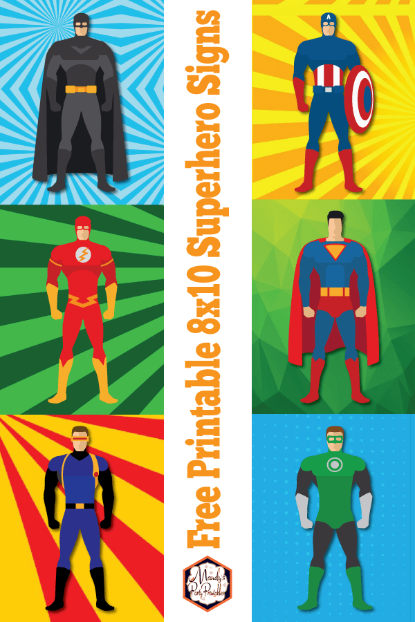 Handy image inside free printable superhero