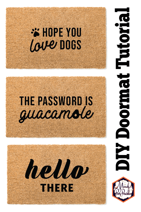 DIY Doormat Tutorial {Free Printable Stencils} |