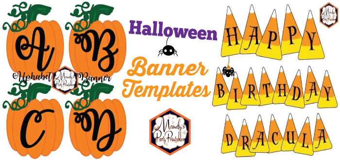 photograph about Printable Halloween Banners called halloween banner template Archives