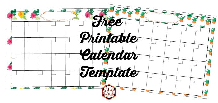 Printable Free Calendar Template