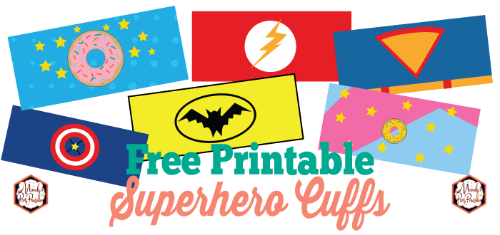 image about Free Printable Superman Template named Cost-free Printable Superhero Cuffs