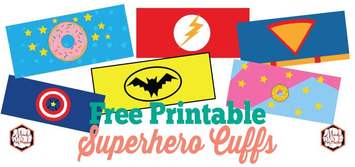 photo regarding Free Printable Superhero identified as Totally free Printable Superhero Cuffs