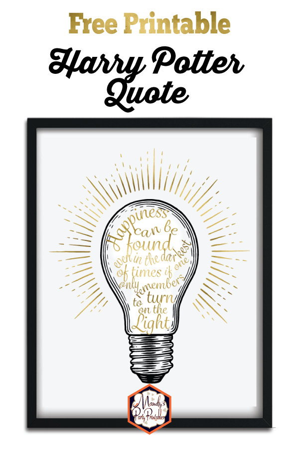 printable harry potter quote you need this