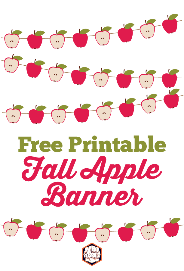 picture relating to Printable Apple Pictures titled Absolutely free Apple Slide Banner Printable