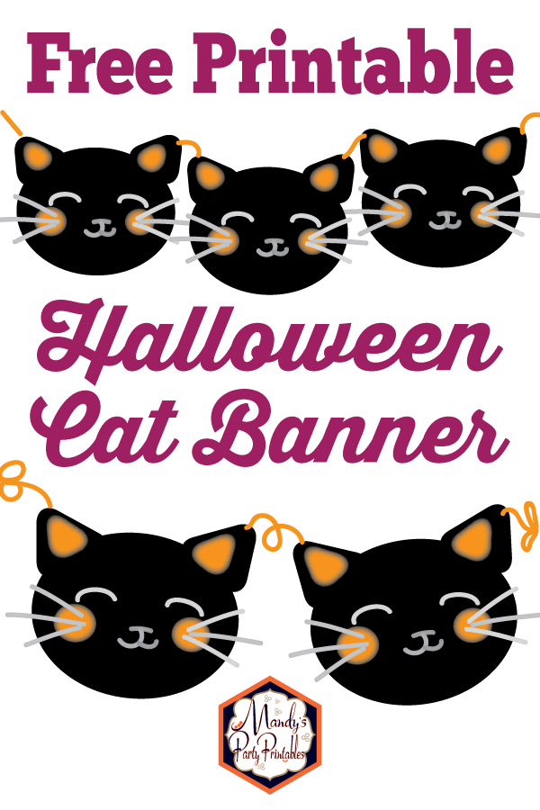 DIY Halloween cat banner free printable