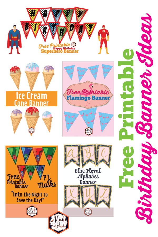 picture regarding Banner Printable known as No cost Printable Birthday Banner Designs
