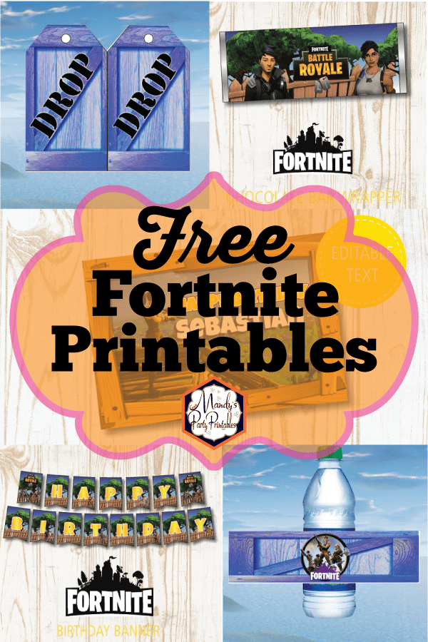 Free Fortnite Party Printables |