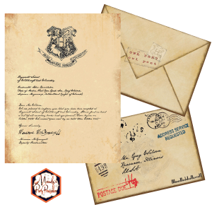 image about Harry Potter Envelope Printable known as Absolutely free Printable Hogwarts Invitation Template