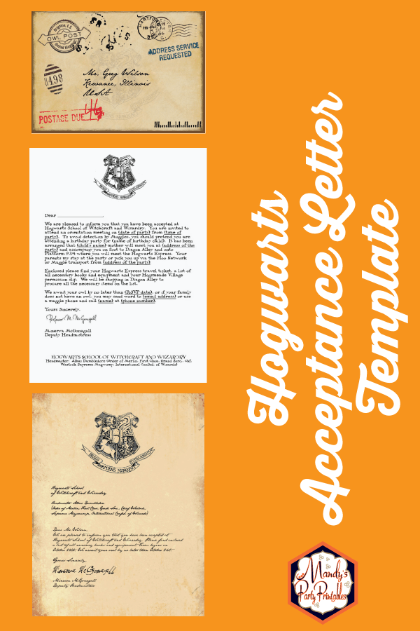 picture about Hogwarts Acceptance Letter Printable named Cost-free Printable Hogwarts Invitation Template