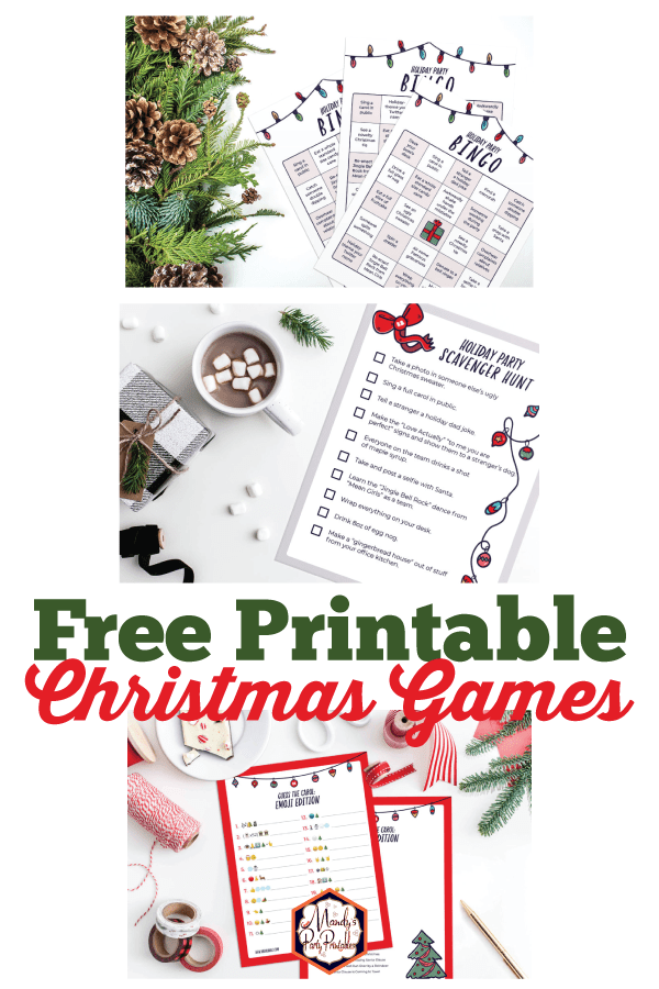 graphic about Printable Christmas Games identify Absolutely free Printable Xmas Occasion Video games