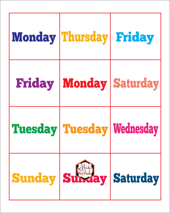 graphic about Days of the Week Printable called VIPKID Free of charge Printable Times of the 7 days