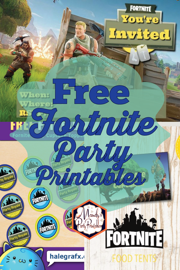 graphic about Fortnite Printable Images named Even more No cost Fortnite Occasion Printables
