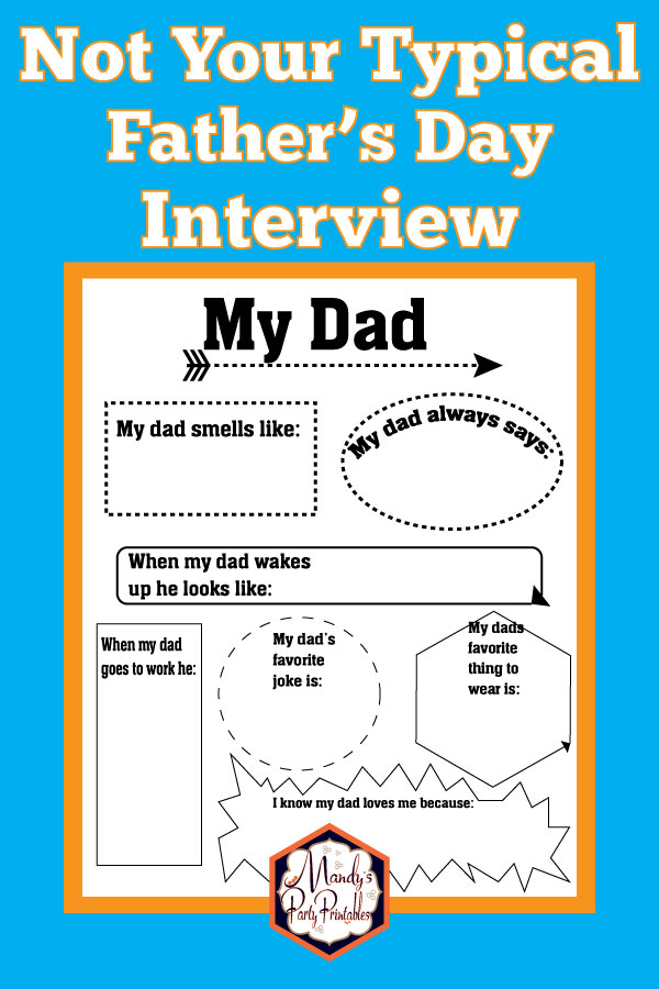 graphic about All About My Dad Free Printable identify Amusing Totally free Printable Fathers Working day Job interview