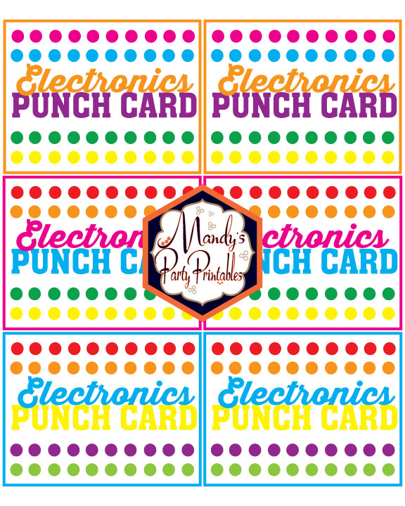 image regarding Printable Punch Cards known as Absolutely free Printable Summer season Punch Playing cards